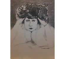 Clara, White Fur Photographic Print