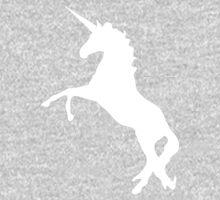 Unicorn silhouette - white Baby Tee