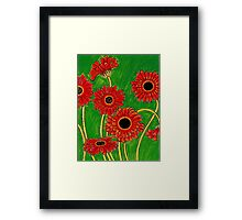 Orange Gerberas Framed Print
