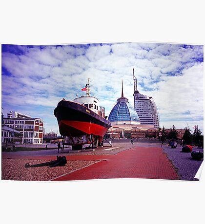 Tugboat in Bremerhaven Poster