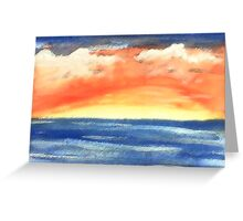 Warm sunset, watercolor Greeting Card