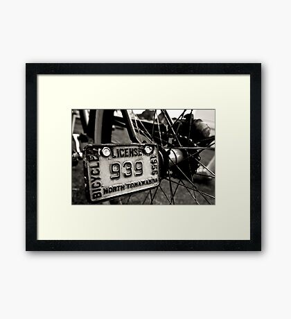Retro Cruiser Framed Print