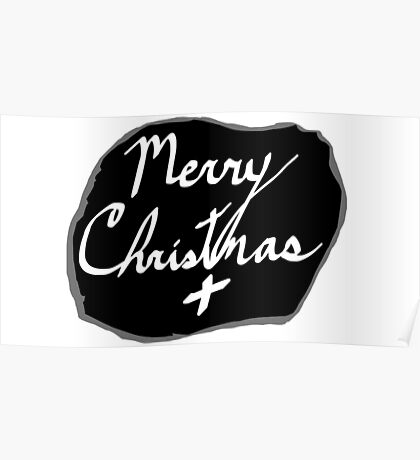 Merry Christmas Signature Poster