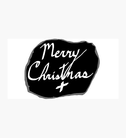 Merry Christmas Signature Photographic Print