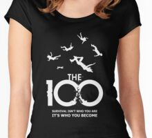 The 100 - Survival Women's Fitted Scoop T-Shirt