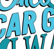 Once a car girl...  Sticker