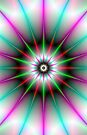 Green and Pink Starburst by Objowl