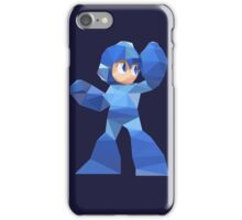 """De-Rezzed Mega Man"" - Low Polygon Art iPhone Case/Skin"