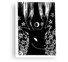 Moon Deer Canvas Print