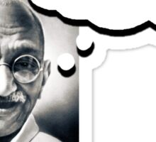 Ghandi's Private Thoughts - Curb Stomping Sticker