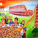 Pizza feast.. by Fawaz Trad