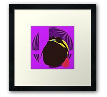 Wario (Kirby Hat) - Sunset Shores Framed Print