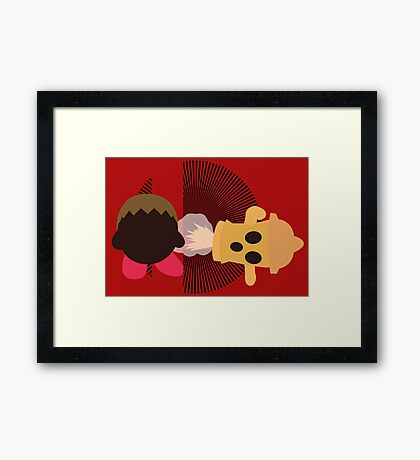 Villager (Kirby Hat) - Sunset Shores Framed Print