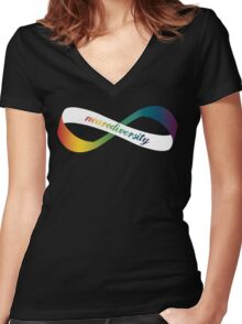 Neurodiversity Möbius Women's Fitted V-Neck T-Shirt
