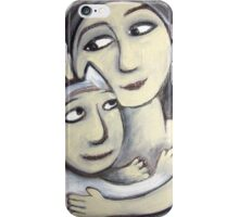 girl and her animal friend iPhone Case/Skin