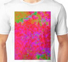 Psychedelic Floral Design Unisex T-Shirt