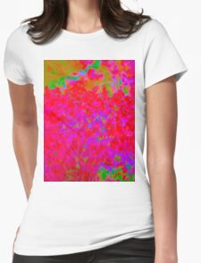 Psychedelic Floral Design Womens Fitted T-Shirt