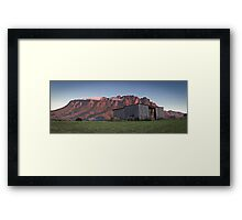 Sunset on Mt Roland  Framed Print