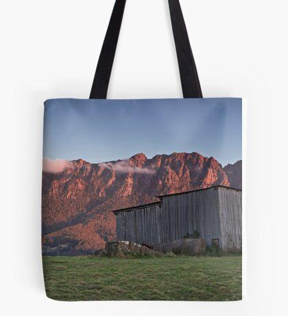 Sunset on Mt Roland  Tote Bag