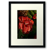 Holiday ribbon Framed Print