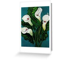 Four Long Lilies Greeting Card