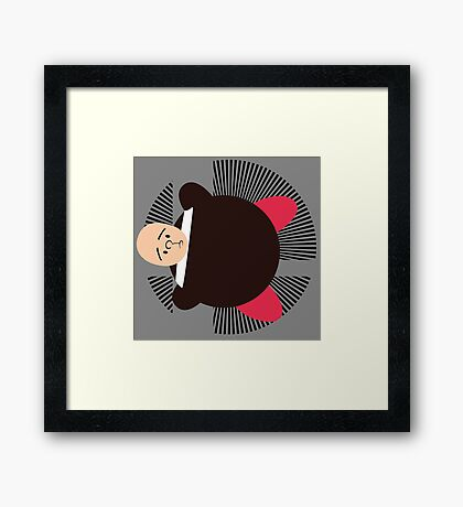 Mii (Kirby Hat) - Sunset Shores Framed Print