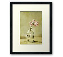 Fleurs roses Framed Print