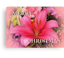 Pink for Christmas Canvas Print