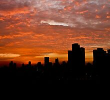 sunset in makati 3 by francis estanislao