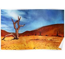Burnt Landscape Poster