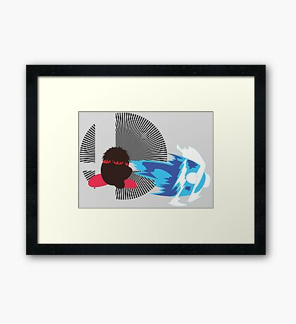 Ryu (Kirby Hat) - Sunset Shores Framed Print