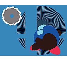 Mega Man (Kirby Hat) - Sunset Shores Photographic Print