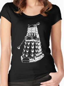 Dalek (white) Women's Fitted Scoop T-Shirt