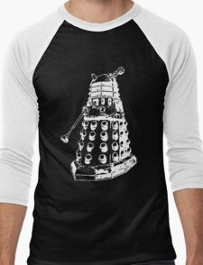 Dalek (white) Men's Baseball ¾ T-Shirt