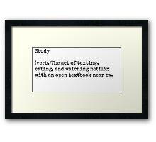 Study Framed Print