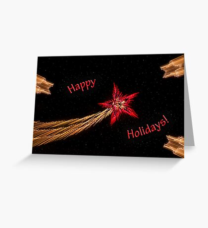 Holiday stars light-play Greeting Card