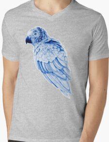 Blue Parrot Mens V-Neck T-Shirt