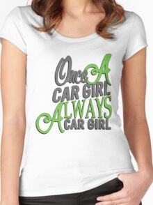 Once a car girl... - 4 Women's Fitted Scoop T-Shirt