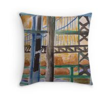 Illustrated Bridge Throw Pillow