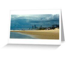 Moody Coastline. Greeting Card