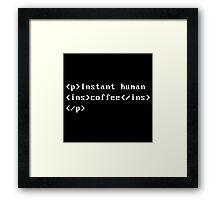Coffee Code Framed Print