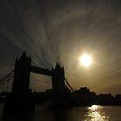 Tower Bridge Silhouette, London by berndt2