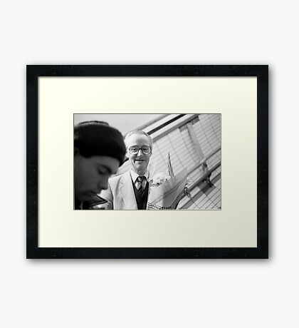 1985 - in anticipation of the date tonight Framed Print