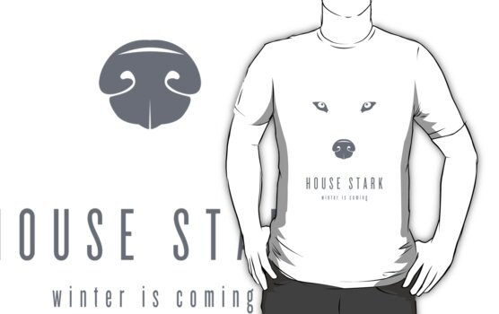 House Stark Minimalist T-Shirt by liquidsouldes