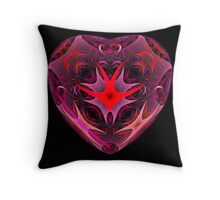 Curled Heart Throw Pillow