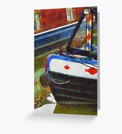 Narrow boats, Gloucester, UK Greeting Card