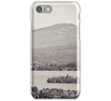 Black and White Mountain Waterscape iPhone Case/Skin