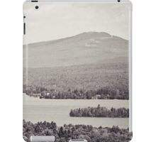 Black and White Mountain Waterscape iPad Case/Skin