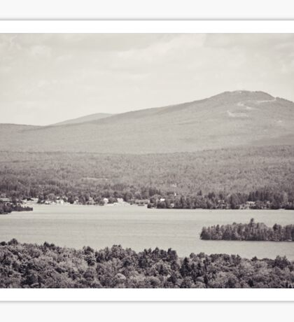 Black and White Mountain Waterscape Sticker