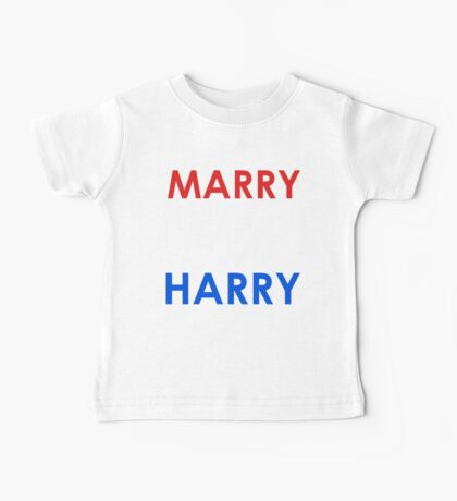 Marry Me Harry (Colour) Baby Tee